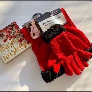 MICRO FLEECE 3 piece set!! Hat,gloves,scarf!!